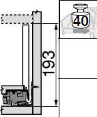Blum Legrabox Spülenschrank - Frontauszug - C - Zwischenstück