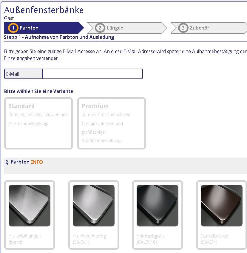 HORN ONLINE - Fensterbank u. Zubehör Profiltechnik / Fensterbank u ...