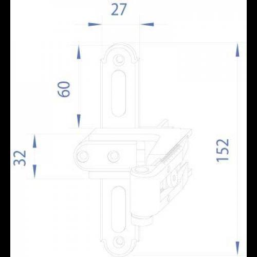 horn online kreuzband gr 1 schwarz mit verst. Black Bedroom Furniture Sets. Home Design Ideas