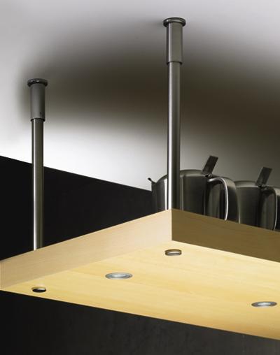 horn online abh ngesystem mit stahlrohr edelstahl optik. Black Bedroom Furniture Sets. Home Design Ideas
