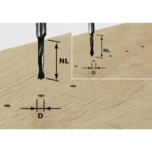 Festool Doppelradienfräser HW Schaft 8 mm HW S8 D38,1//R6,35//R6,35 491030